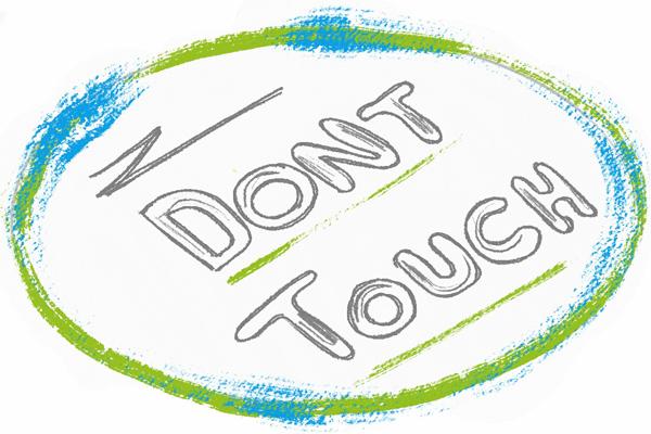 dont touch missbrauch